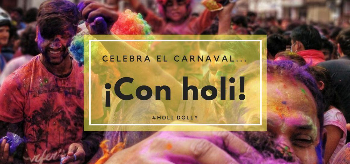 Celebra Carnaval polvo holi
